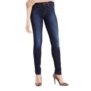 Levi's Dark High Rise Slimming Skinny Jeans